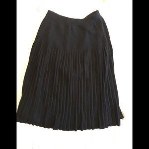 Diane Von Furstenburg Wool Pleated Midi Skirt